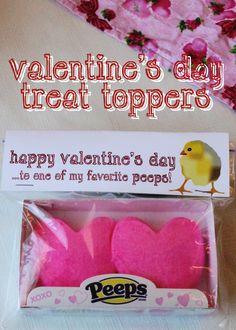 Valentine's Peep Toppers