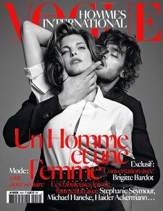 Vogue Hommes International célèbre un homme et une femme. Très belle couverture by Terry Richardson avec Stéphanie Seymour.