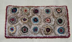 MINIATURE EMBROIDERY by KATIE ARTHUR: Penny rug design in punchneedle!