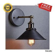 Industrial Simplicity 1 Light Wall Sconce Aged Steel Finished Indoor Outdoor Use