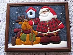 Cuadro navideño en patchwork sin aguja - Imagui