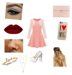 """""""Date night"""" by fashionlover094 ❤ liked on Polyvore featuring Charlotte Russe, Alexander McQueen, Casetify, Johnny Loves Rosie, Forever 21, women's clothing, women, female, woman and misses"""