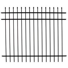 DIY Universal Fence Meriden 4 ft. H x 6 ft. W Aluminum Fence Panel Clinton 1483 at The Home Depot - Mobile