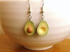 Kawaii Food Earrings Avocado. $12.50, via Etsy.