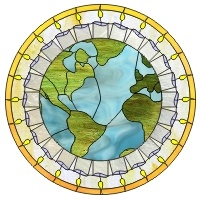 globe stained glass pattern