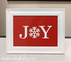 diy home decor dollar store | DIY Christmas Decor- Joy Sign — Creations by Kara