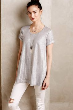Glimmered Tee - anthropologie.com