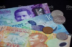 New Zealand Money (NZD) Dollars A mixture of New Zealand Bank Notes (NZD). All Australasian Currencies Stock Photo Image Now, New Image, Bank Financial, Video New, Feature Film, Photo Illustration, Royalty Free Images, New Zealand