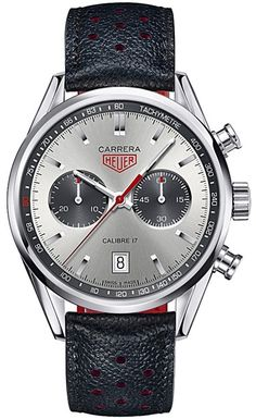 Steel limited-edition Jack Heuer 80th Birthday Carrera Chronograph by TAG Heuer | Jewelry Couture