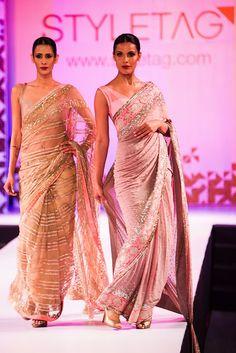 #Designer pink #Saree by Manish Malhotra