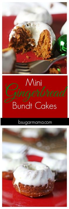 Enjoy these Mini Gingerbread Bundt Cakes that is perfect for the holiday season. These Gingerbread Cakes are moist and deliciously flavorful with a Cream Cheese Glaze.