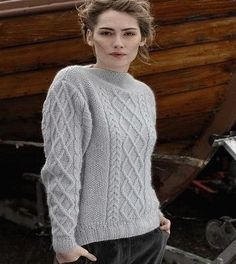 "Free knitting pattern ""Aran sweater"" 