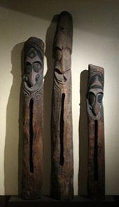 Wooden drums from Vanuatu Vanuatu, Sound Sculpture, Sculptures, Polynesian Art, Tiki Room, Island Nations, South Pacific, Papua New Guinea, Drums