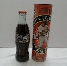 2001 Cal Riplin Jr. Coca-Cola Bottle in Comemorative Tube - Celebrate 21 Years  #CocaCola