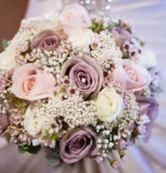 Blush, lilac, white, sage