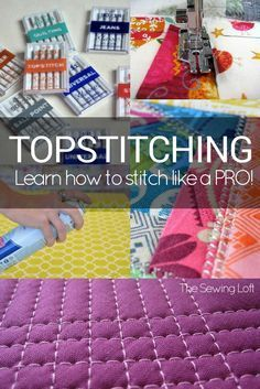 Learn how easy it is to sew like a pro with these easy to use Top Stitching Tips. Mystified by thread weight and needle sizes? Uncertain about tension? Can't get even stitch lines? Tips here to help everyone get the most perfect and most eye-catching top stitching to make your projects look tip-top! From The Sewing Loft.