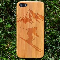 Be one with the mountain with this Bamboo Skier iPhone Case! It's eco-friendly and beautiful! Makes a great skiing gift for any 'green' skier!