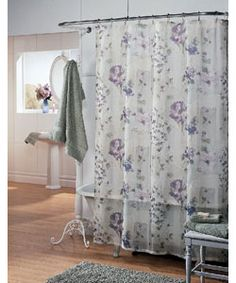 Wisteria Fabric Shower Curtain