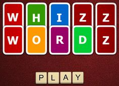 """Whizz Wordz is a cool """"Boggle"""" like game. Full screen! Great!"""