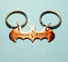 Batman Best Friend Keychains smaller key chain by VisionQuest