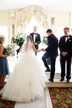 Hayley Paige real bride wearing #LondynGown #justgotpaiged #JLMcouture Photo By Janelle Elise photography