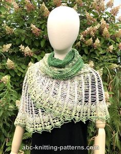 Semi-Circular Shawl with Pineapple Border - free crochet pattern with step-by-step photos by Elaine Phillips at ABC Knitting Patterns Shawl Patterns, Knitting Patterns, Crochet Patterns, Crochet Shawl, Free Crochet, Crochet With Cotton Yarn, Fashion Cakes, Finger Weights, Color Stripes