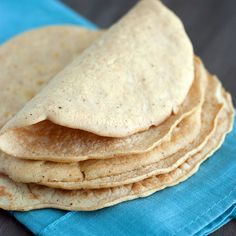 Low Carb Tortilla Recipe with water, egg whites, coconut flour, salt, cummin, chili powder