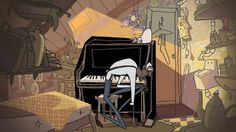 An animated short film by: Jeanette Nrgaard, Marie Thorhauge, Marie Jrgensen, Mette Ilene Holmriis   STORY: Leitmotif is the story of the last lonely member of a jazz band, only living through his music and the daily visits of a white cat. One day the nostalgia takes over -- and he has a crazy idea.  CREDITS: By: Jeanette Nrgaard, Marie Thorhauge, Marie Jrgensen, Mette Ilene Holmriis  Script: Jeanette Nrgaard  Graphics: Marie Thorhauge, Marie J…