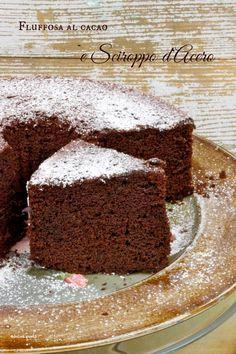 Fluffosissima al cacao e Marple Syrup