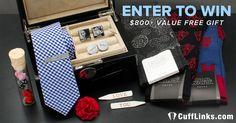 CuffLinks.com is offering a Valentine's Day Giveaway with a grand prize of 12 gifts - valued over $800. Enter now for your chance to win, and continue to share for bonus entries!