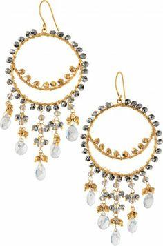 Stella & Dot- Cora chandelier earrings.  Order at www.stelladot.com/maggiem