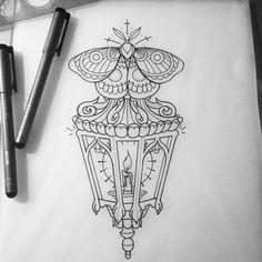 """""""Blasting this sweet lantern/moth on ma boi tomorrow! Stomach Tattoos, All Tattoos, Moth Tattoo Design, Tattoo Designs, Tattoo Sketches, Tattoo Drawings, Lamp Tattoo, Tattoo Tradicional, Throat Tattoo"""