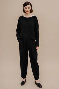 Longsleeve z Tencelu™ i lnu / 14 / 12 / onyx black – NAGO Normcore, Long Sleeve, Model, Black, Style, Fashion, Swag, Moda, Long Dress Patterns