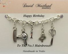 Hairdresser 30th Birthday Lucky Charm by DMaitlandJewellery