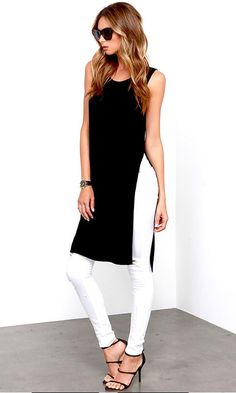 Catch Twenty Tunic Black Maxi Top