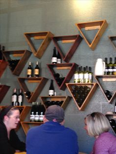 I think every future home should have a wine triangle or two throughout the house.... lol