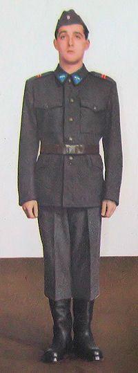 1959 pattern Czechoslovak Air Force enlisted airmen's field uniform.