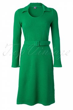 Wow To Go! - 70s Anouck Dress in Lucky Green #topvintage