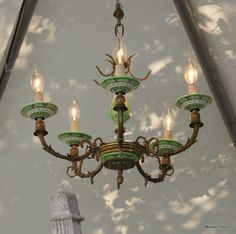Chandelier: Great Idea to decorate with Annie Sloan Chalk Paint™ Decorative Paint