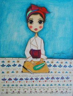 Chef Bela Gil | Aquarela sobre papel