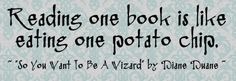 Reading one book is like eating one potato chip :-) #books