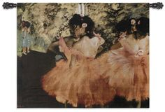 Tapestry Wall Art, Ballerina in Rosa is another display of Degas at his finest, that can make your room sing with beautiful color. This Impressionists work of art brings warmth to your walls and makes an inviting invitation for your family and guest, as they enter the room.
