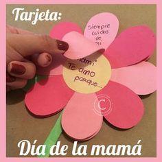 Tárjeta fácil y creativa para el día de las madres - Mother's Day Card     Sorprende a mamá en su día, con esta sencilla pero muy linda y original tarjeta!  Dale click a la foto para ver el paso a paso de esta tarjeta :D