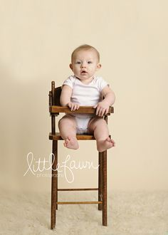 6 Month Old Studio | Little Fawn Photography