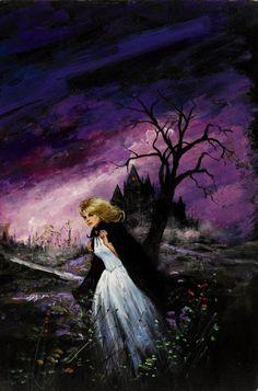 Dave Karlen Original Art Blog: Gothic Romance Covers (Women Who Run From Houses)