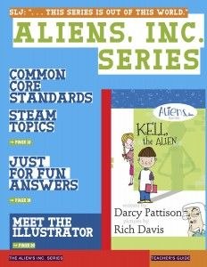 "The Aliens, Inc. series of four easy-chapter books introduces first, second and third graders to the science fiction genre. These children's books will delight emergent readers. SLJ says, ""amusing"" and ""out of this world"" fun.  The lesson plans in this teacher's guide feature biographical information on the author and illustrator, writing lessons, close reading lessons and much more. $0.00 FREE Download http://mimshouse.com/support-for-the-aliens-inc-series/"