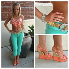 Love the crop top and love the color of the jeans