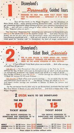 1963 Disneyland Ticket Price Flyer
