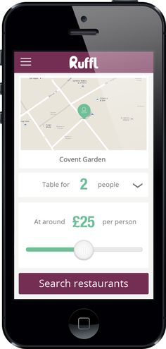 Ruffl Launches Real-Time Dining App For London A real-time booking system for local services, with the first service aimed at restaurant bookings, launching first in London.