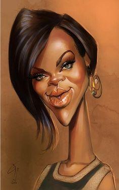 Rihanna - an illustration of Bogdan Covaciu